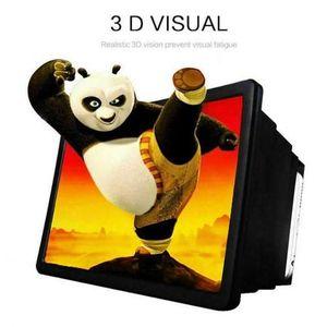 شاشة عرض مكبرة للهاتف المحمول ثلاثية الأبعاد للأفلام - أسود