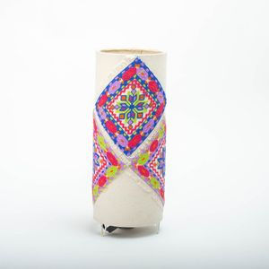 Handmade Embriodered Side Lamp - 35 Cm