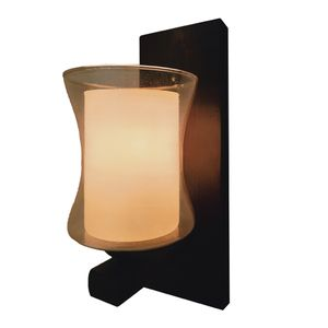 Wooden Wall Lamp - Brown
