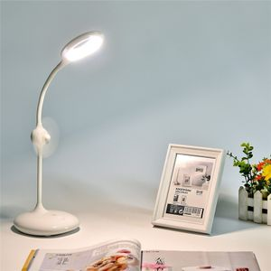 LED Eye Protection Touch Switch Table Lamp Study Reading Children Desk Lights Night Light with Mini Fan