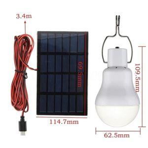 Solar Panel Energy Portable Led Bulb - 15W - 130LM