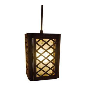 Wood Lamp - 18*18*22 Cm - Brown