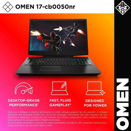 HP OMEN 17t Gaming Laptop - Intel Core I9-9880H - 32GB RAM - 32GB Optane - 512GB SSD + 2TB HDD - 17.3-inch FHD - RTX2080 8GB GPU - Windows 10 - English Keyboard