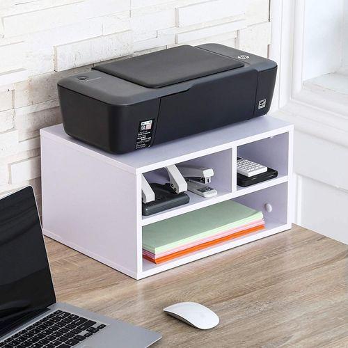 Shop Samara Printer Stand And Desk Storage Organizer 40x30x22 White Jumia Egypt