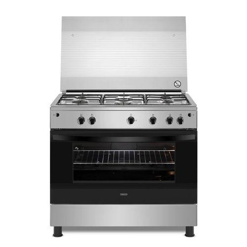 Zanussi ZCG91016XA Freestanding Stainless Steel Gas Cooker - 5 Burners - 90 Cm