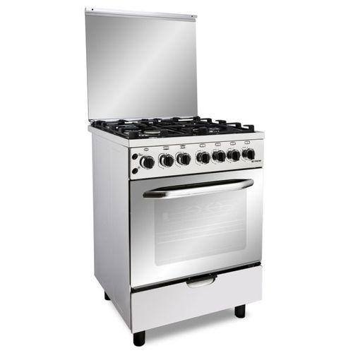 Fresh Hi Cast Gas Cooker - 60 Cm - 4 Burners - Silver