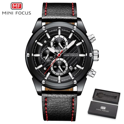 Shop Mini Focus Minifocus Men S Wristwatch Quartz Watches Men Luxury Brand Leather Waterproof Relogio Masculino Watch Montre Homme Male Clock Jumia Egypt