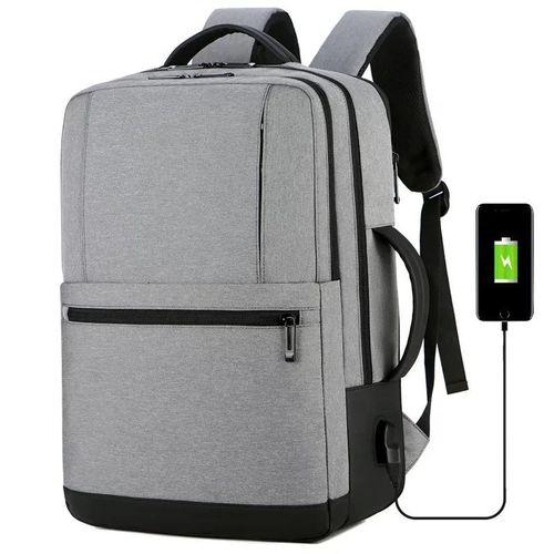 MEINAILI 1908-WL 15.6 Nylon Multi-function Business Waterproof Laptop Backpack,USB Outport - Gray