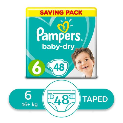 Baby Dry Diapers - Size 6 - 48 Pcs