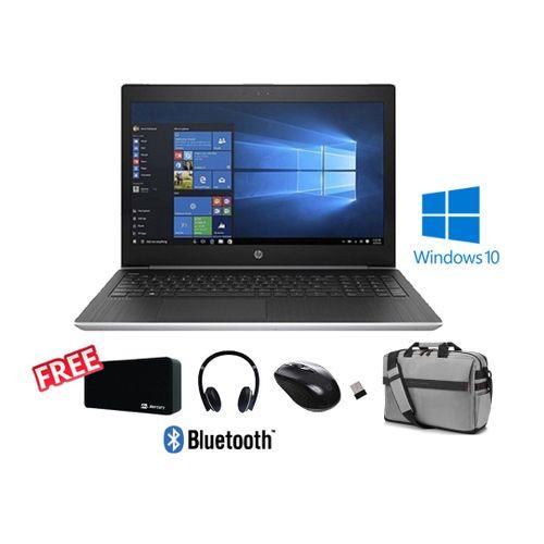 HP ProBook 450 G5 Laptop - Intel Core I5 - 4GB RAM - 500GB HDD - 15.6-inch FHD - Intel GPU - Windows 10 - Silver + Free Mouse + Free Speaker + Free Headset + Free Bag