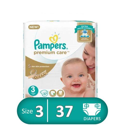 Premium Care Diapers - Size 3 - 37 Pcs