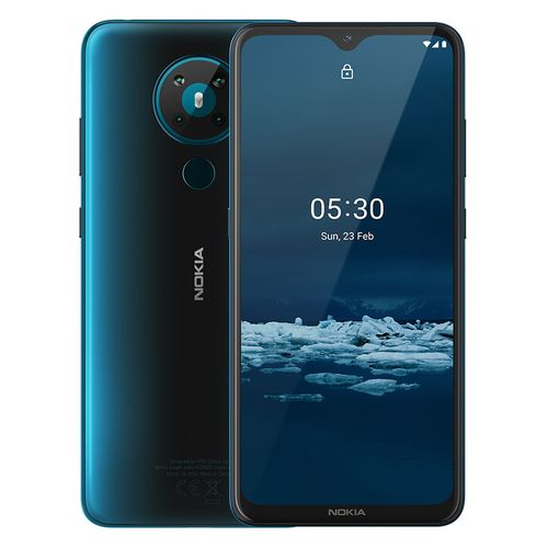5.3 - 6.55-inch 64GB/4GB Dual SIM 4G Mobile Phone - Cyan