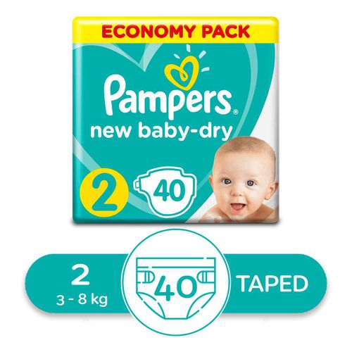 Baby Dry Diapers - Size 2 - 40 Pcs