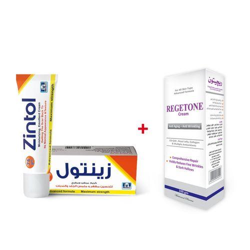 تسوق 75 ريجيتون كريم بالكولاجين 100 جم زينتول كريم بالسليكون مرطب لازالة اثار الجروح والندبات اونلاين جوميا مصر