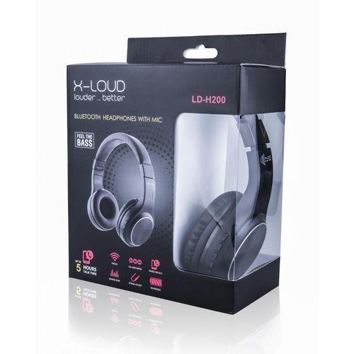 Shop X Loud H200 Bluetooth Headset With Mic Sd Card Fm Black Jumia Egypt