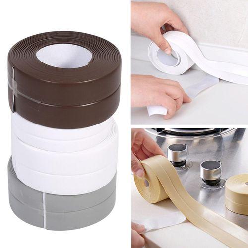 Durable 3.2M Waterproof Sealing Strip Self-Adhesive Kitchen Bathroom Caulk Tape