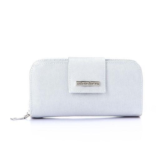 Simple Elegant Zipped Wallet - Silver