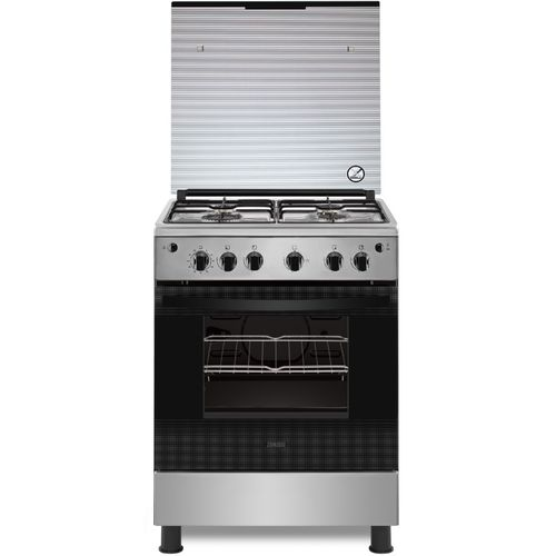 Zanussi ZCG622A6XA Stainless Steel Gas Cooker - 4 Burners - 60cm - Silver