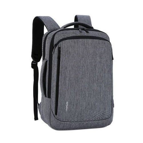 MEINAILI Nylon Laptop Backpack With USB Charging Port - 15.6-inch - Grey