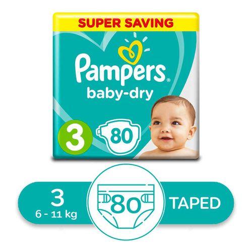 Midi Baby Dry Diapers - Size 3 - 80 Pcs