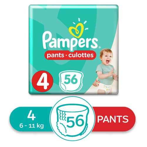 Baby Pants Diapers - Size 4 - 56 Pcs