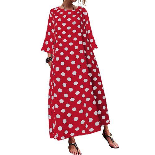 Shop Celmia Women Dot Print Casual Maxi