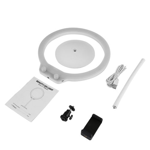 product_image_name-Generic-TA LED Ring Lights Desktop Photograph Lamp Dimmable Lighting USB 8 Inch Kit-1