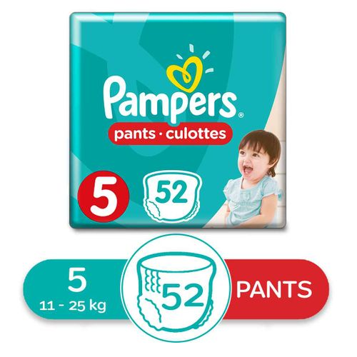 Baby Pants Diapers - Size 5 - 52 Pcs