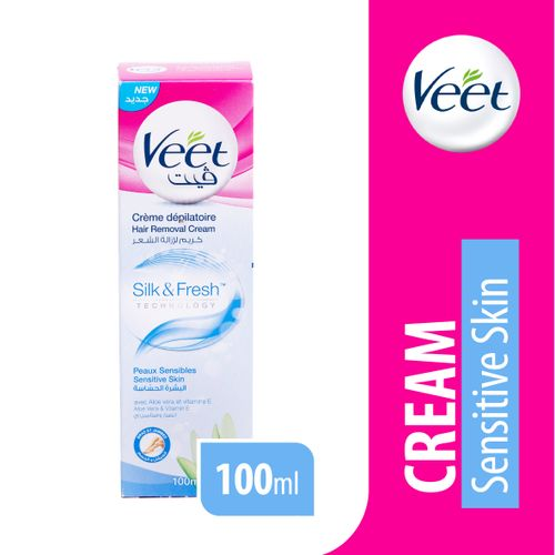 Shop Veet Sensitive Skin Hair Removal Cream 100ml Jumia Egypt