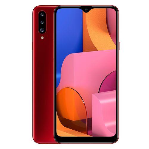 Samsung Galaxy A20s -موبايل ثنائى الشريحة 6.5 بوصة - 32 جيجا/3جيجا - 4G - أحمر