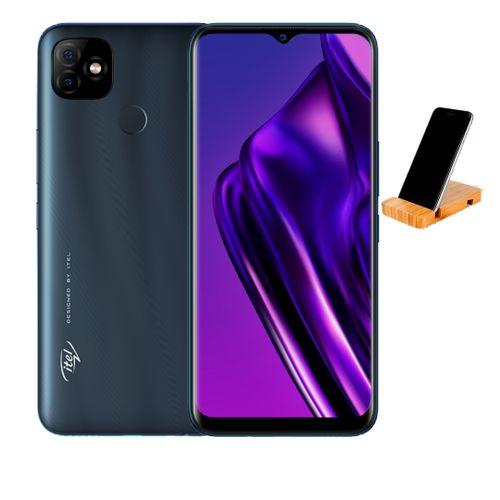 P36 Dual SIM - 6.5 Inch- 5000MAH -Deeb Blue +free Mobile Holder