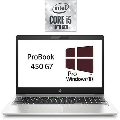 HP ProBook 450 G7 Laptop - Intel Core I5 - 8GB RAM - 1TB HDD - 15.6-inch HD - 2GB GPU - Windows 10 Pro - Natural Silver + Laptop Bag