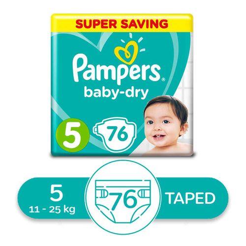 Junior Baby Dry - Size 5 - 76 Pcs