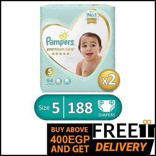 Premium Care Diapers - Size 5 - 94 Pcs - 2 Packs