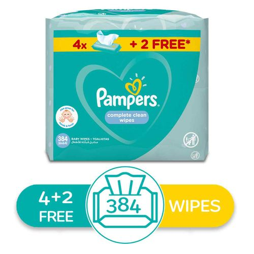Complete Clean Wipes - 384 Wipes