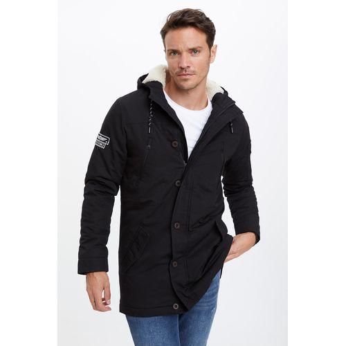 Defacto Man Slim Fit Coat/Parka Black