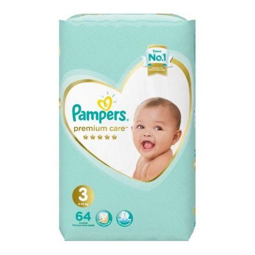 Premium Care Diapers - Size 3 - 64 Pcs
