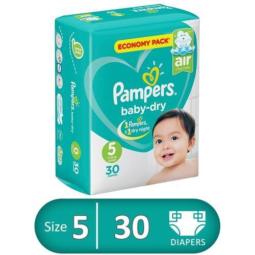 Baby Dry Diapers - Size 5 – 30 Pcs