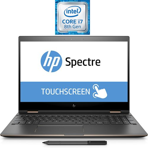 HP Spectre 15-ch011dx X360 2 In 1 Laptop - Intel Core I7 - 16GB RAM - 512GB SSD - 15.6-inch UHD - 2GB GPU - Windows 10 - English Keyboard - Dark Ash Silver