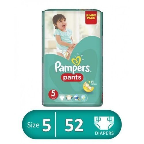 Baby Pants Diapers - Size 5 – 52 Pcs