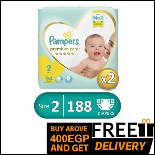 Premium Care Diapers - Size 2 - 94 Pcs - 2 Packs