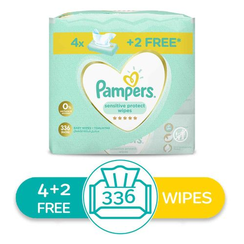 Sensitive Protect Wipes - 336 Wipes