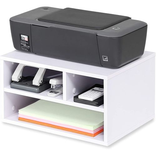 Shop Modern Home Printer Stand And Desk Storage Organizer 40x30x22 White Jumia Egypt