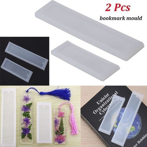 2Pcs Silicone Necklace Pendant Mold Jewelry Making Tool Home Crafts Mould S8