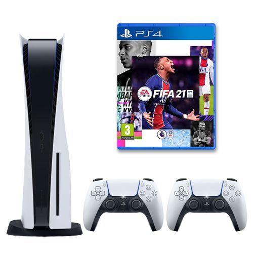 PlayStation 5 Console + 2 DualSense Wireless Controller+ Fifa 21 Standard Edition