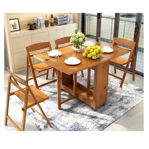smart طاولة عشاء مع 4 كراسي –140 سم -بيج