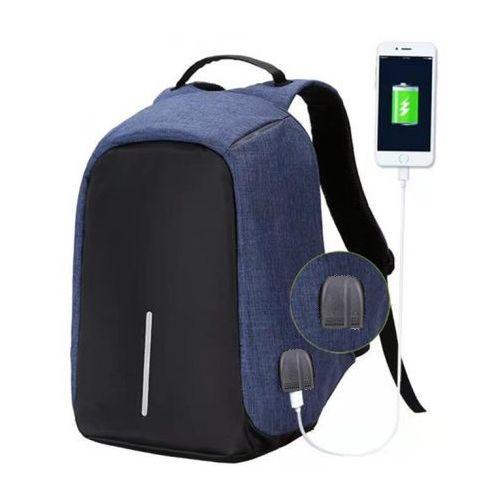 Generic حقيبة سفر مضادة للماء مضاد للسرقة تصميم منفذ USB + Aux - أزرق غامق