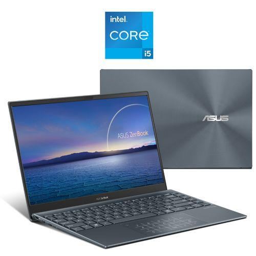 ZenBook UX325EA-KG235T Laptop - Intel Core I5-1135G7 - 8GB RAM - 512GB SSD - Intel Iris X Graphics - 13.3-inch FHD - Windows 10 - Pine Grey