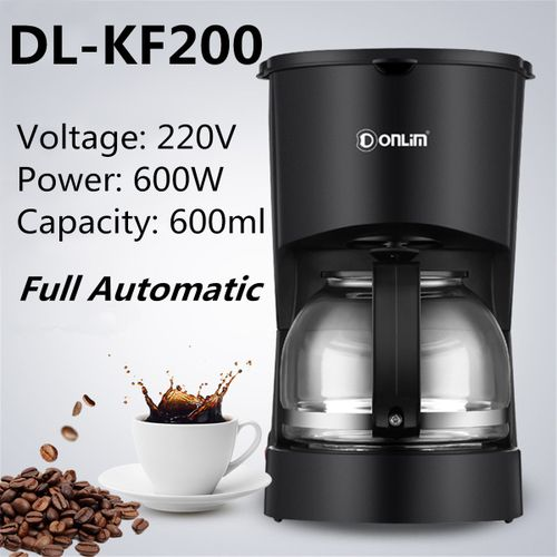 product_image_name-Generic-Donlim DL-KF200 220V Portable Household Coffee Maker Machine Fully -1