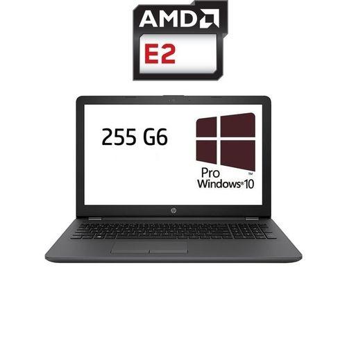 HP 255 G6 لاب توب - وحدة معالجة AMD E2 - رام 4 جيجا بايت - هارد HDD 500 جيجا بايت - شاشة عالية الوضوح 15.6 بوصة - وحدة معالجة الرسومات AMD - Windows 10 Pro - أسود